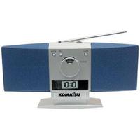 "AM/FM ""Butterfly"" desk radio with alarm clock"