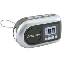 Dynamo-powered AM/FM Radio/LED flashlight with alarm clock