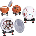 Sport ball design mni refrigerator and warmer with base
