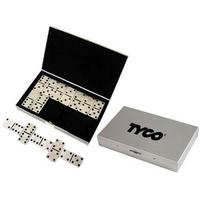 Stainless steel travel domino set