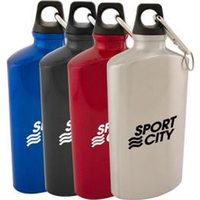 22 oz aluminum canteen with carabiner clip and key ring