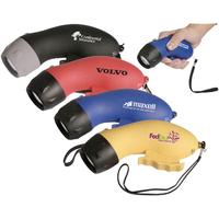 Environmentally-friendly self-powered gripper flashlight