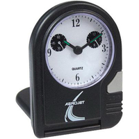 Folding travel alarm clock with lighted dial