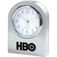Solid aluminum arched clock