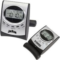 Radio-controlled portable alarm clock