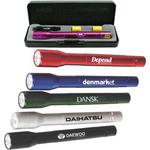 Anodized aluminum LED flashlight gift set