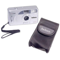 Motorized 35mm camera package with film and case