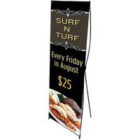 Banner with pop-up stand