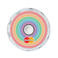 Logo In-Motion Coaster (Rainbow Concentric Circles)