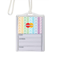 Logo In-Motion Luggage Tag (Wavy Rainbow)