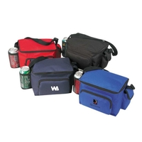 6 Pack Poly Cooler w/ Bottle Holder & Phone Pouch