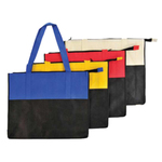 Two Tone Polypropylene Zippered Tote Bag