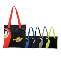 Zipper Top Bottle Tote Bag