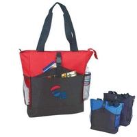 """Deluxe Zipper Tote Bag (18""""x15-1/2""""x5"""")"""