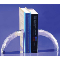 Crystal Faceted Book Ends