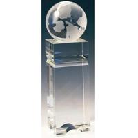 Small Crystal Globe Edifice Award