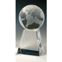 Small Crystal Spinning Globe Award