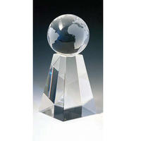 Medium Crystal Spinning Globe Award