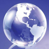 Medium Clear Crystal Standing Globe