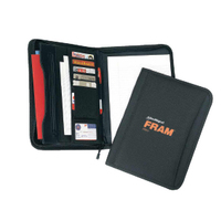 600 D Polyester Poly Zippered Padfolio