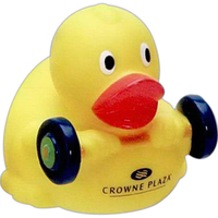Weight-lifting duck