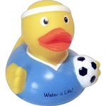 Soccer player duck