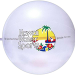 Translucent pearl beach ball