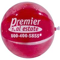 Transparent red/clear beach ball