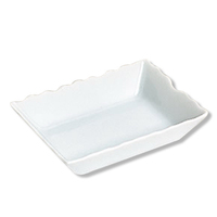 Bonbon deep scalloped oblong candy dish