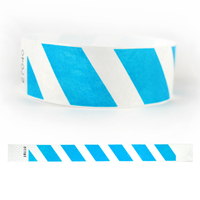 "Tyvek® 1"" Design Blue Stripes Wristband"