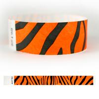 "Tyvek® 1"" Design Tiger Stripes Wristband"