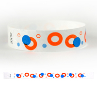 "Tyvek® 3/4"" Design Modern Circles Wristband"