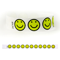 "Tyvek® 3/4"" Design Yellow Smiley Face Wristband"