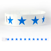 "Tyvek® 3/4"" Design Blue Stars Wristband"