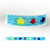 "Tyvek® 3/4"" Design Tropical Fish Wristband"