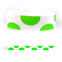 "Tyvek (R) 3/4"" Design Half Circles Wristband"