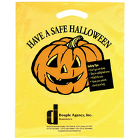 Halloween Plastic Die Cut/Yellow - Have a Safe Halloween