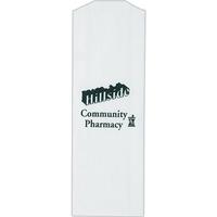 White Kraft Paper Prescription Bag - Flexo Ink