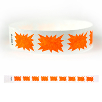 "Tyvek® 3/4"" Design Orange Burst Wristband"
