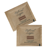 Natural Brown Raw Cane Sugar Packet