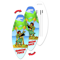 Luggage Tag with Hula Design, Surf Board Shaped