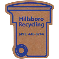 Corrugated Trash / Recycling Bin Magnet