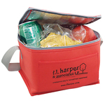 Promotional Soft Side 6 Pack Cooler - Nonwoven