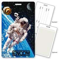 Luggage Tag with NASA Space Astronaut, Lenticular 3D Effect