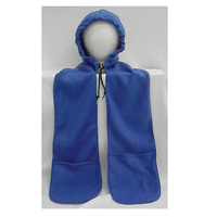 Promo Polar Fleece Hood Scarf With Pockets