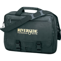 Leatherette Expandable Briefcase