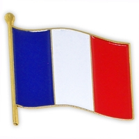 World Flag - France Flag Lapel Pin