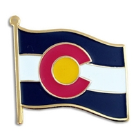 State - Colorado State Flag Pin