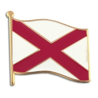 State - Alabama State Flag Pin
