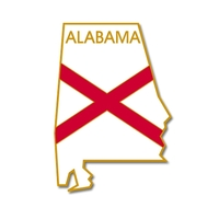 State - Alabama State Shape Lapel Pin